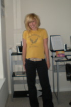thrifted t-shirt - Aeropostale pants - TOMS shoes