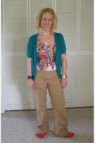 American Eagle top - Ann Taylor Loft sweater - Ann Taylor Loft pants - Nine West