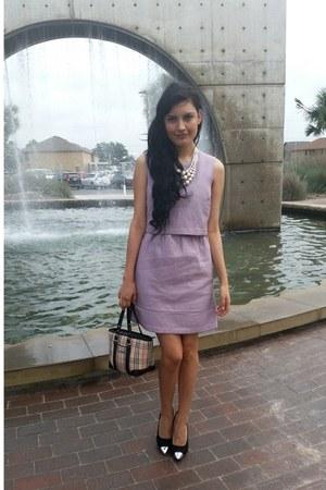 light purple Forever 21 dress - Burberry bag