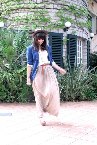 new look shoes - obey hat - Zara blazer - Zara skirt