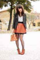 black Icode by ikks blazer - burnt orange vintage bag
