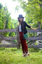 ruby red sessun pants - black Nasty Gal cardigan