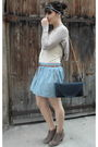 Blue-dkny-skirt-beige-sessun-top-beige-h-m-top-gold-primark-accessories