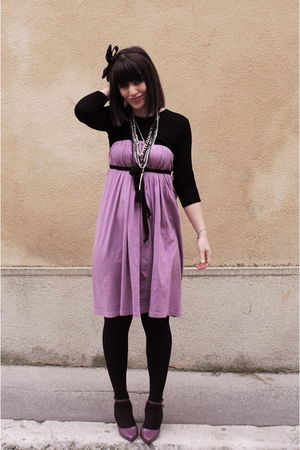 purple American Apparel dress - purple Melissa shoes