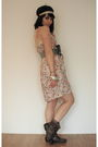 Beige-primark-dress-beige-miss-sugar-cane-accessories