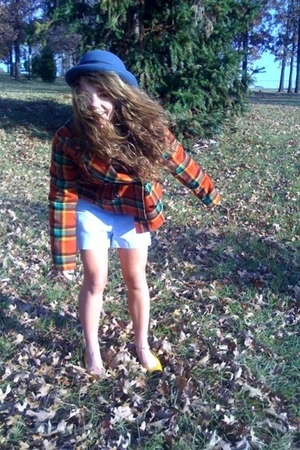 Urban Outfitters Outfitters hat - free people coat - JCrew shorts - vintage shoe