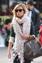 knit scarf - Louis Vuitton bag