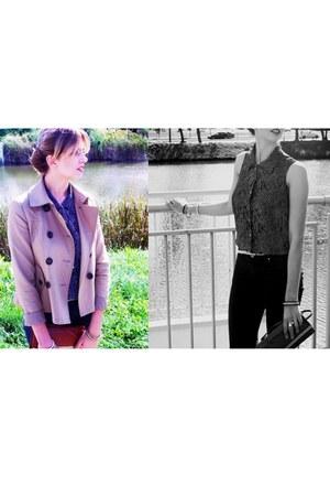 Stradivarius coat - Zara jeans