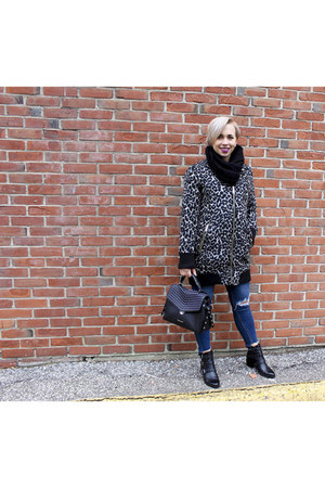 sam edelman coat - Lord and Taylors boots - Just Black Denim jeans