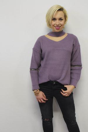 Cosa Cuff bracelet - Forever 21 bracelet - Charlotte Russe boots - Zara jeans