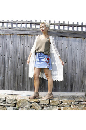 Zara skirt - Marshalls boots - Target cardigan - cotton on top