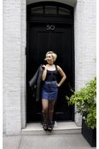Bloomingdales Outlet skirt - Zara top - Dolce Vita flats