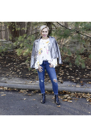 Zara jeans - Lord and Taylors boots - Forever 21 jacket - Zara sweater