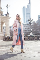 light pink trenchcoat edited coat - gold gold Mango boots