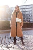 white jiji bag lanvin bag - camel teddy coat & other stories coat