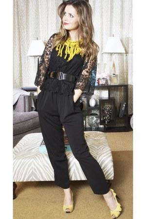 Target scarf - H&M top - Forever 21 romper - stuart weitzman heels
