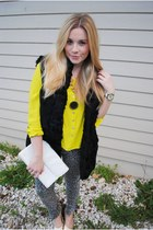 yellow neon Forever 21 blouse