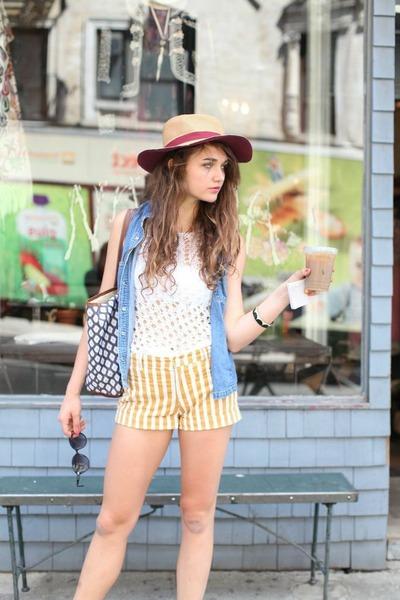 david & young hat - Barrington Bags bag - Henry & Belle shorts