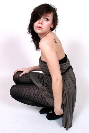 beige Jacob dress - black Jessica tights - black American Apparel intimate