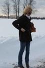 Plum-peacot-loft-coat-bootcut-jcrew-jeans-vegan-leather-sole-society-bag