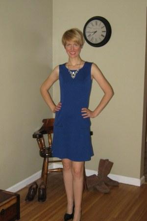 blue drop waist xhilaration dress - black Aldo heels