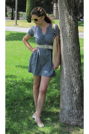 H&M dress - Anthropologie belt - Repetto shoes