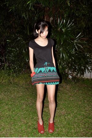 teal random from japan skirt