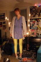 blue Anthropologie dress - yellow American Apparel tights - blue Target shoes -