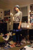 black Goodwill blouse - blue Gap skirt - gray Charlotte Russe sweater - black Fo