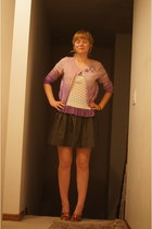 red flats - amethyst diy Old Navy sweater - periwinkle Soprano shirt