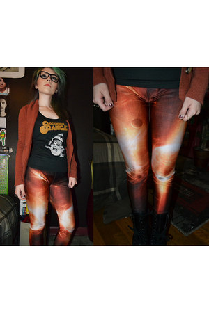 black combat boots Target boots - carrot orange explosion print romwe leggings
