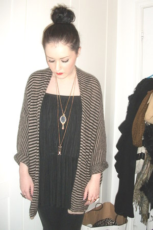 Topshop dress - Topshop cardigan - Topshop necklace