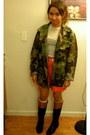 Corso-como-boots-army-vintage-jacket-shirt-vintage-belt-j-crew-skirt