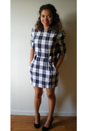 plaid The Launderette dress - Qupid heels