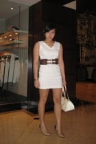 Bazaar dress - Louis Vuitton purse - belt - hong kong find shoes