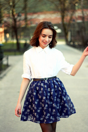 skirt - cotton shirt