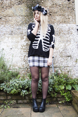 skeleton asos jumper