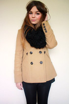 camel peacoat new look coat - black lace new look dress