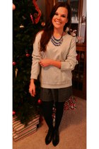 Target skirt - Dolce Vita boots - kohls sweater - Sheinside necklace