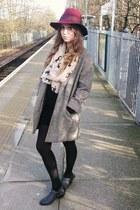 Topshop hat - Topshop boots - River Island jacket
