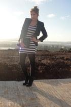 no brand dress - Paprika shoes - Zara blazer
