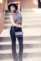 Paige jeans - asos hat - crop top Bar III top