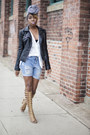 Zara-jacket-asos-shorts-michael-antonio-sandals