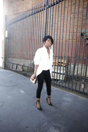 Urban Outfitters blouse - so kate Christian Louboutin heels