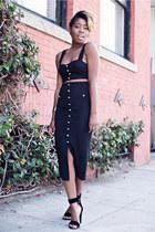 H&M top - H&M skirt - Tibi sandals