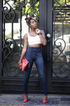 crop top American Apparel top - high waisted dittos jeans