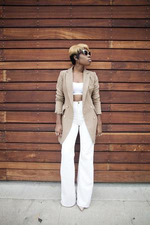 camel coat Hidden Fashion coat - wide leg American Apparel pants