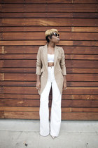camel coat Hidden Fashion coat - wide leg American Apparel pants