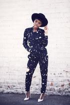 madrid hat Nasty Gal hat - galaxy print Made Fashion Week for Impulse jacket