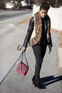 Shoe-dazzle-boots-fossil-bag-fur-vest-mark-vest